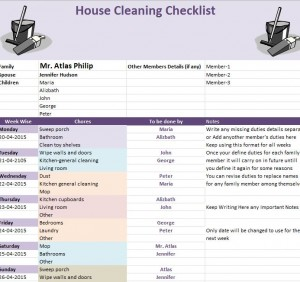 spring cleaning template
