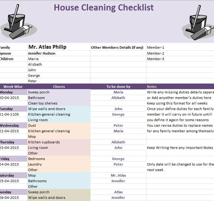 spring cleaning complete checklist