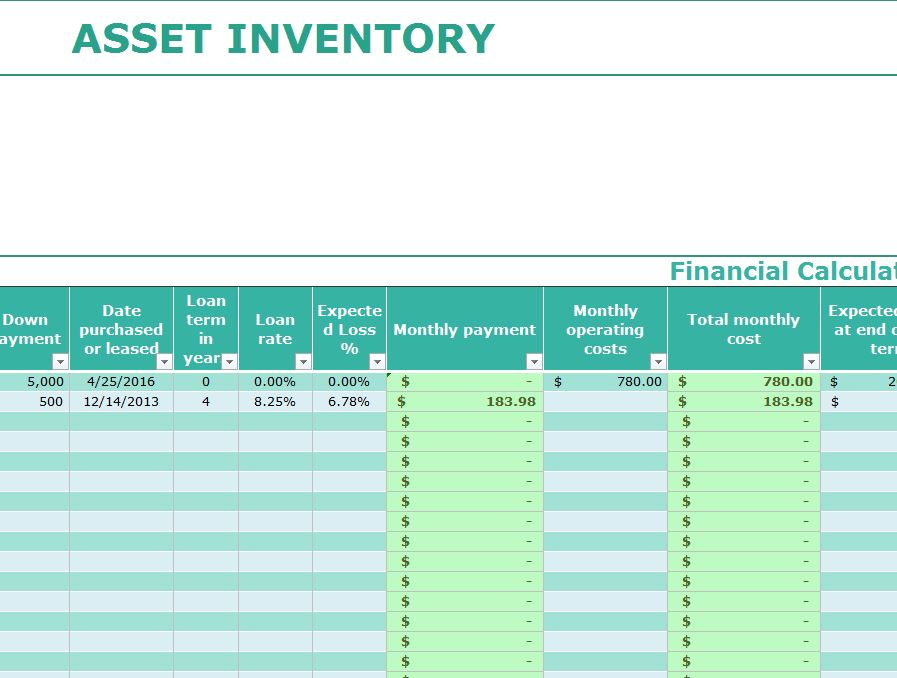 asset inventory template my excel templates. Black Bedroom Furniture Sets. Home Design Ideas