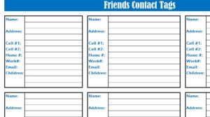 Friends Contact List
