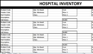 Hospital Inventory