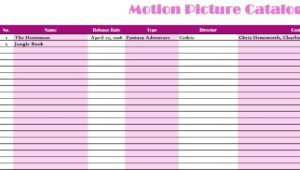 Motion Picture Catelog