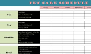 Pet Care Schedule