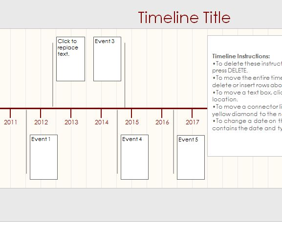 Timeline Template Sheet - My Excel Templates