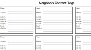 neighbors contact list