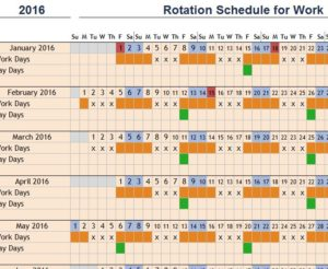 Rotation Schedule for Work - My Excel Templates