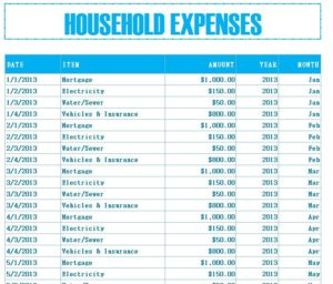 household budgeting tools