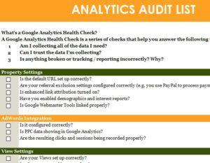 Analytics Audit List