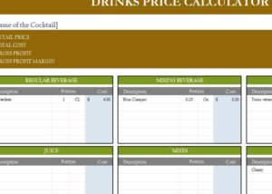 Drinks Price Calculator