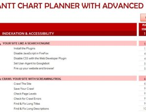 Gantt Chart Planner with Advanced SEO