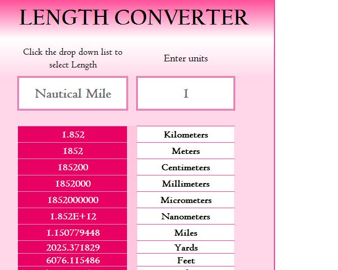 length converter calculator