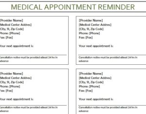 Medical Appointment reminder