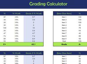 school grading calculator my excel templates