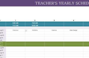 Teacher Yearly Schedule