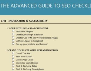 The Advanced Guide to SEO Checklist