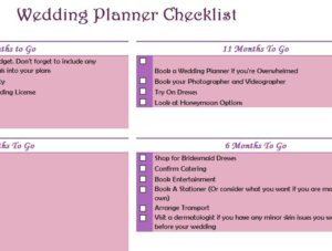 Wedding Planner Checklist