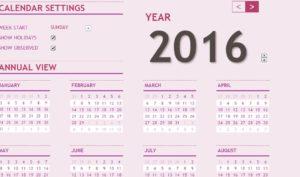 Year & Month Calandar