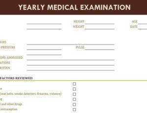 Yearly Medical Examination