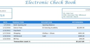 Electronic check book