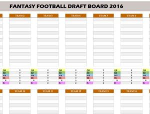 Are You Even More Excited To Start Fantasy Football If So Then We Have The Perfect Template For Free 2016 Draft Board