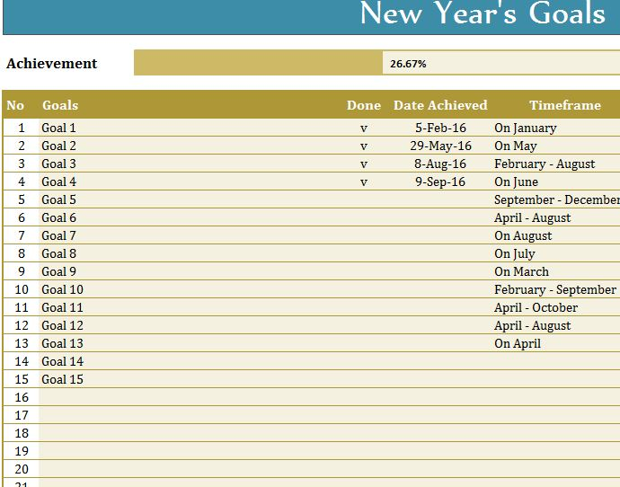 New year goals template my excel templates for New years goals template