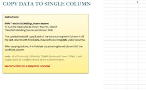 Copy Data to Single Column Template