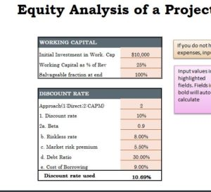 Equity Analysis Capital Budget My Excel Templates