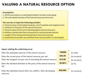 New Natural Resource as Option Template