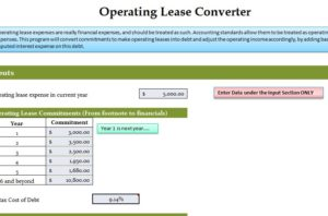 Operating Lease Converter