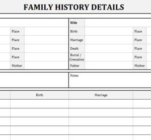 Family History Records