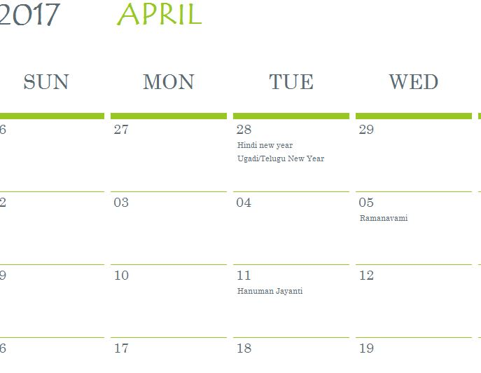 hindu holidays calendar template my excel templates