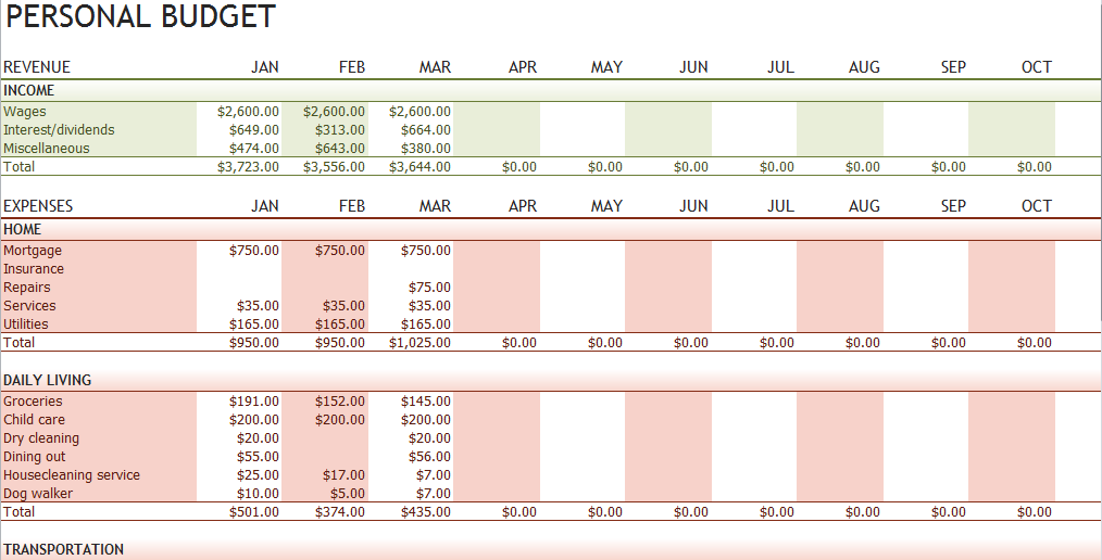 Excel Personal Finance Tracker Geccetackletartsco - Personal finance excel template