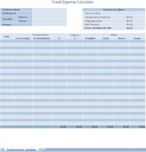 Free Business Expense Report Excel Template