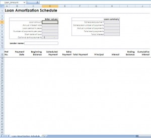Loan Calculation - Building An Amortization Table in Excel