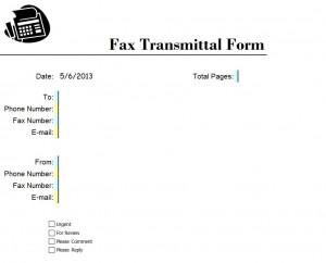 Business Fax Cover Sheet Excel Template Screenshot