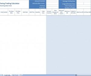 Forex Swing Trade Spreadsheet