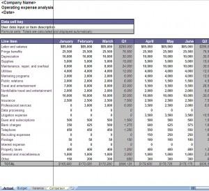 Operating Expenses Analysis Worksheet