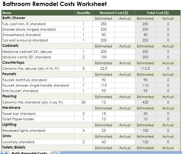 renovation plan template