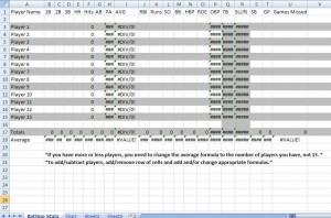 baseball lineup sheets