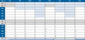 2011 one page planner template