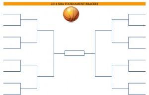 2011 Printable PDF NBA Basketball Tournament Bracket