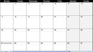 february 2011 excel calendar