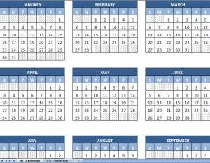 2011 printable calendar yearly
