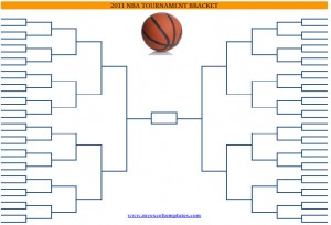 2011 Printable Blank PDF NCAA Basketball Playoffs Bracket Printout
