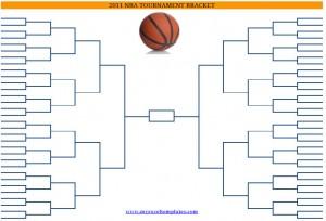 2011 Printable Blank PDF NCAA Basketball Playoffs Bracket Printout