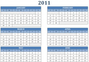 PDF Calendar 2011 Free Print