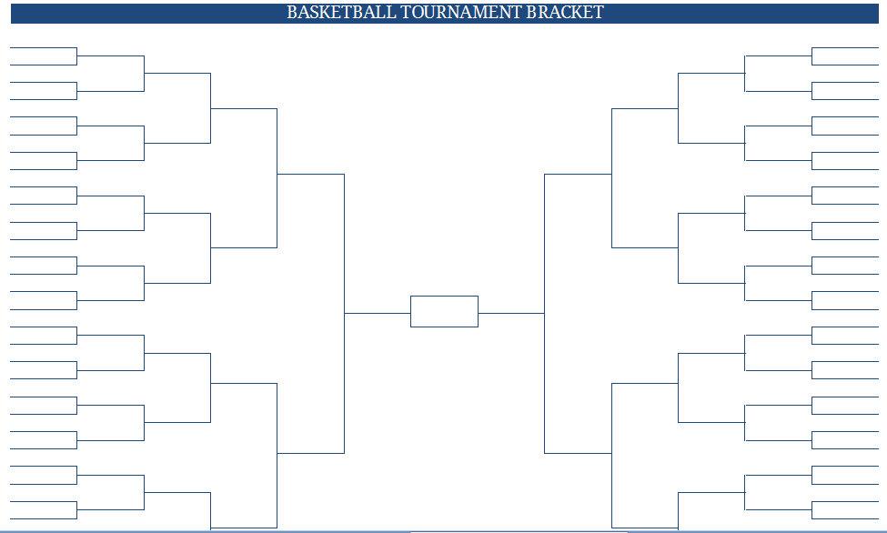Empty Tournament Bracket