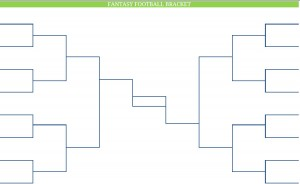 Printable Blank PDF NFL fantasy football brackets