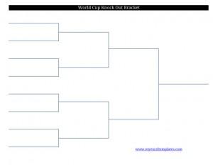 2011 printable blank FIFA World Cup soccer football bracket