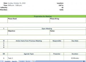 Sample Meeting Agenda Template